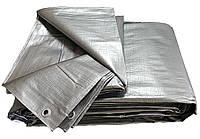 Тент тарпаулин ПВХ покрытие  6х8м, плотность  150 г/м, серый, фото 1