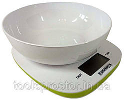 Весы кухонные Grunhelm с чашей KES-1PP : 5 кг | Гарантия 2 год
