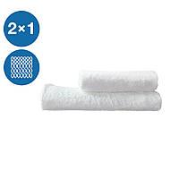 Набор махровых полотенец для рук для лица и тела 2шт плотность 430г/м2 хлопок петлевые Туркменистан Eco белый
