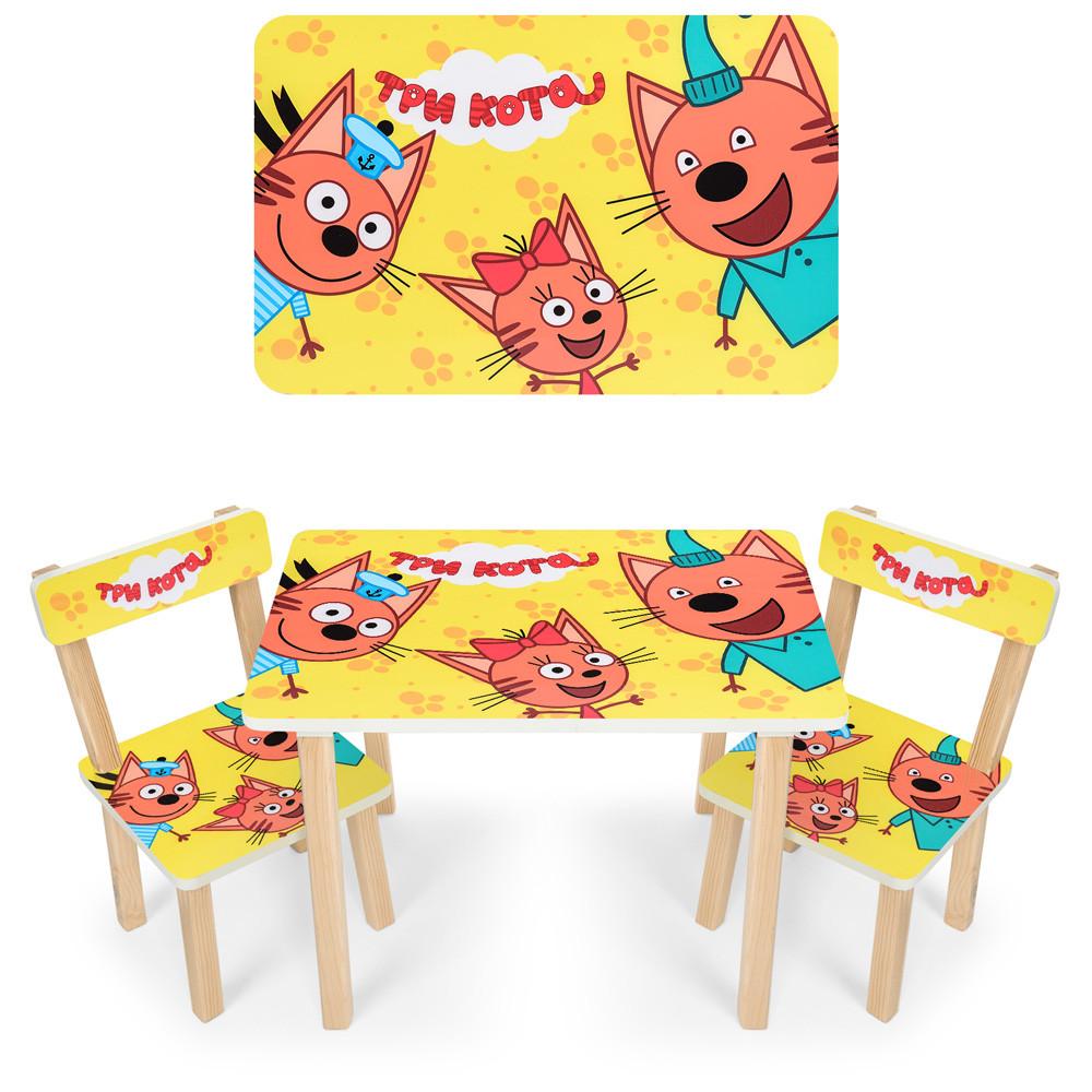 """*Набір меблів - столик і 2 стільці """"Три кота"""" арт. 501-75"""