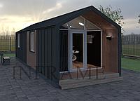 Современный дом отдыха в скандинавском стиле // Модульный дом