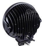 Фара LED круглая 60W (12 диодов х 5W) 3D линза black (для тяжелой техники), фото 2