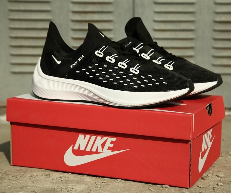 Кроссовки мужские Nike EXP X14 Black White. Стильные мужские кроссовки.