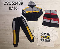 Трикотажный костюм-тройка для мальчиков Mr.David оптом, 8-16 лет.  Артикул: CSQ52489