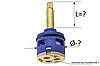 Картридж для смесителя душевой кабины на три ( 3 ) положения 33 мм диаметром и 45 мм длиной штока, фото 3