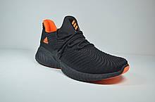Мужские кроссовки сетка черные с оранжевым в стиле Instinct (5165 - 6)