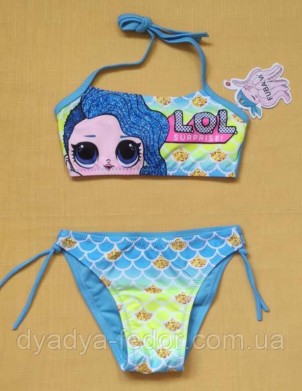 Купальники и плавки Китай 3623 Для девочек Голубой размеры 28_36