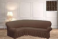 Покрывало Чехол на угловой диван  Капучино