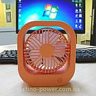 Настольный мини вентилятор портативный DianDi Square. Вентилятор аккумуляторный 2 скорости, фото 4
