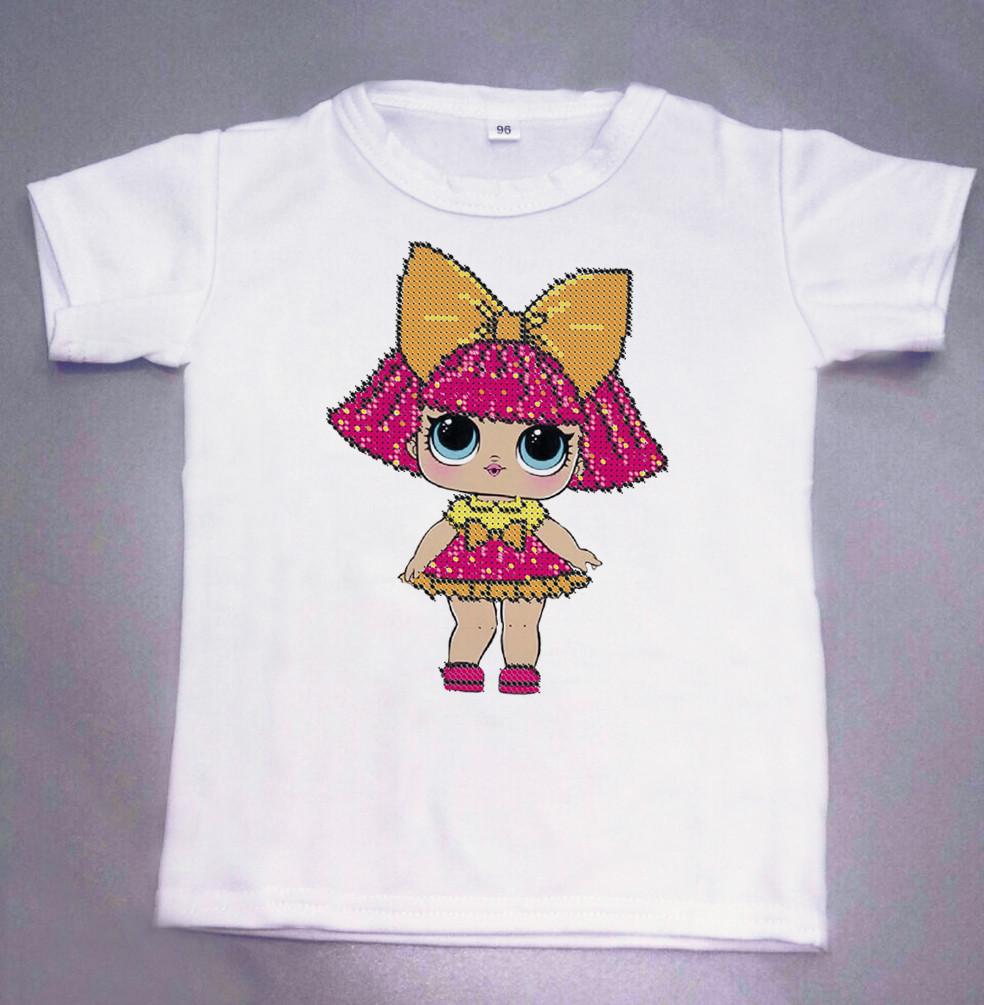 Дитяча футболка для вишивки бісером. Розмір 96см 104см 108см