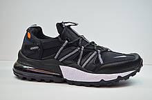 Чоловічі кросівки чорні з білим Nike 1170 - 1