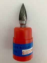 Борфреза (шарошка) цилиндрическая форма G, с одинарной заточкой G1020M06