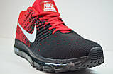 Мужские кроссовки черные с красным в стиле Air 2017 (2017 - 1), фото 2