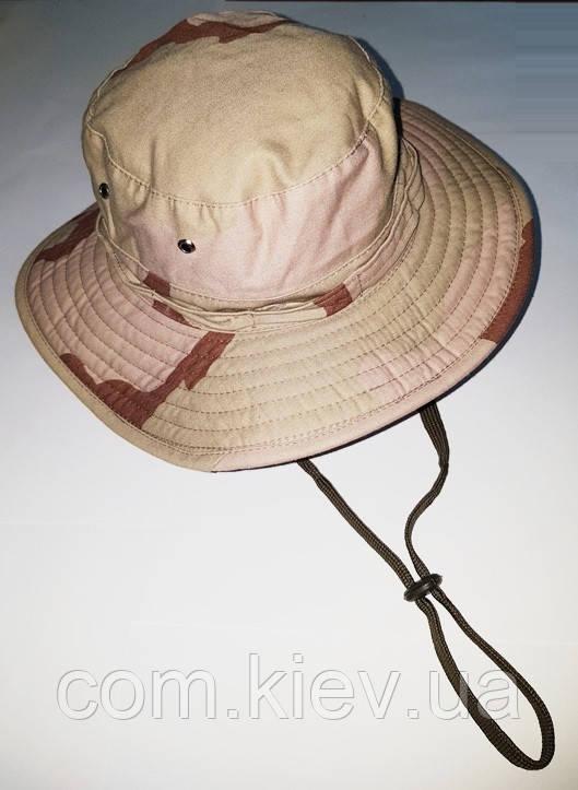 Шляпа летняя (хлопок) камуфлированная с широкими полями. Плотная