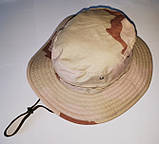Шляпа летняя (хлопок) камуфлированная с широкими полями. Плотная, фото 3