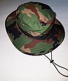 Шляпа летняя (хлопок) камуфлированная с широкими полями. Плотная, фото 7