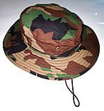 Шляпа летняя (хлопок) камуфлированная с широкими полями. Плотная, фото 8