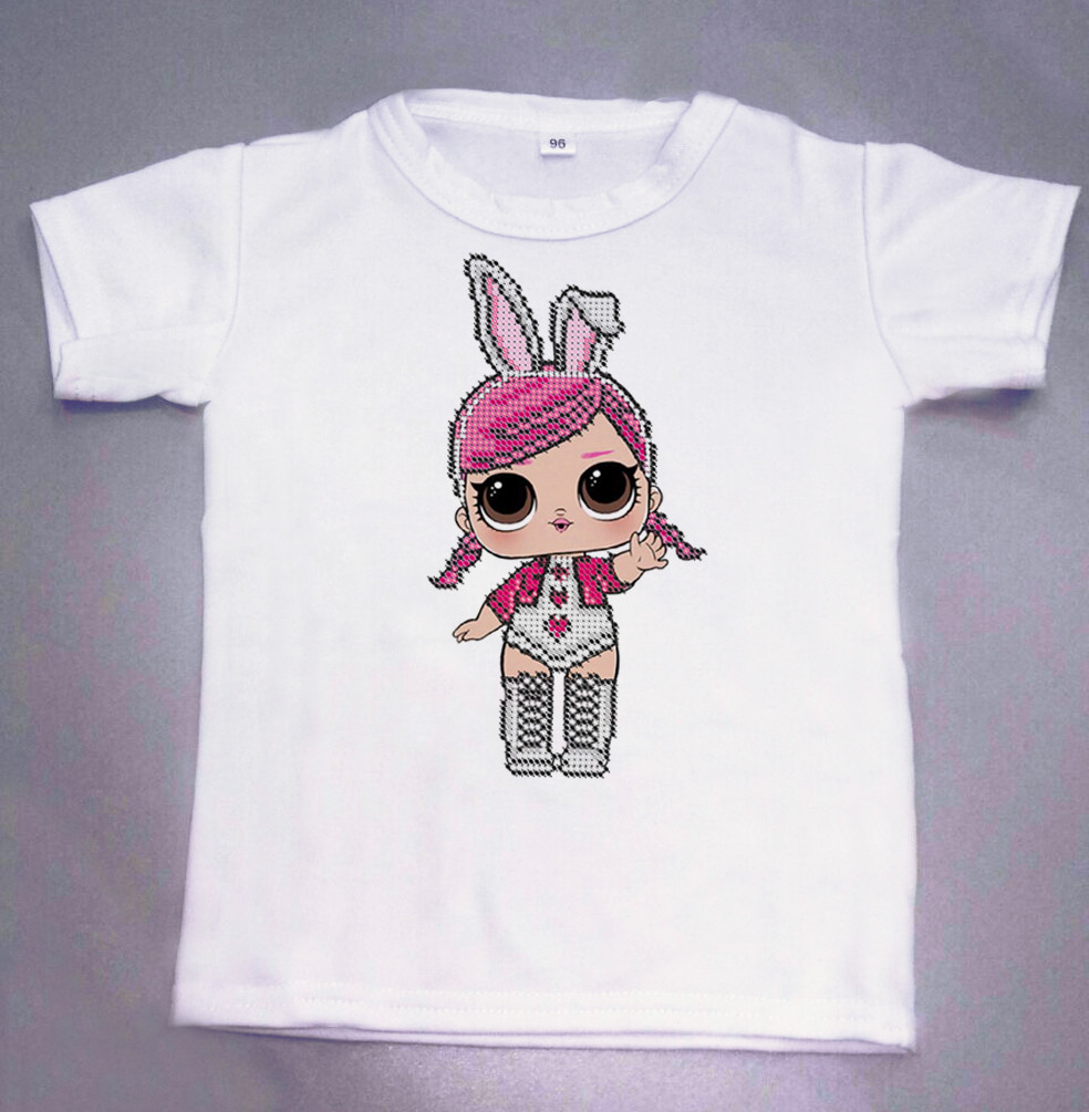 Детская футболка для вышивки бисером. Размер 96см 104см 108см