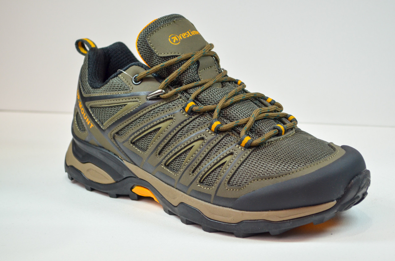 Мужские кроссовки демисезонные хаки Restime 20879