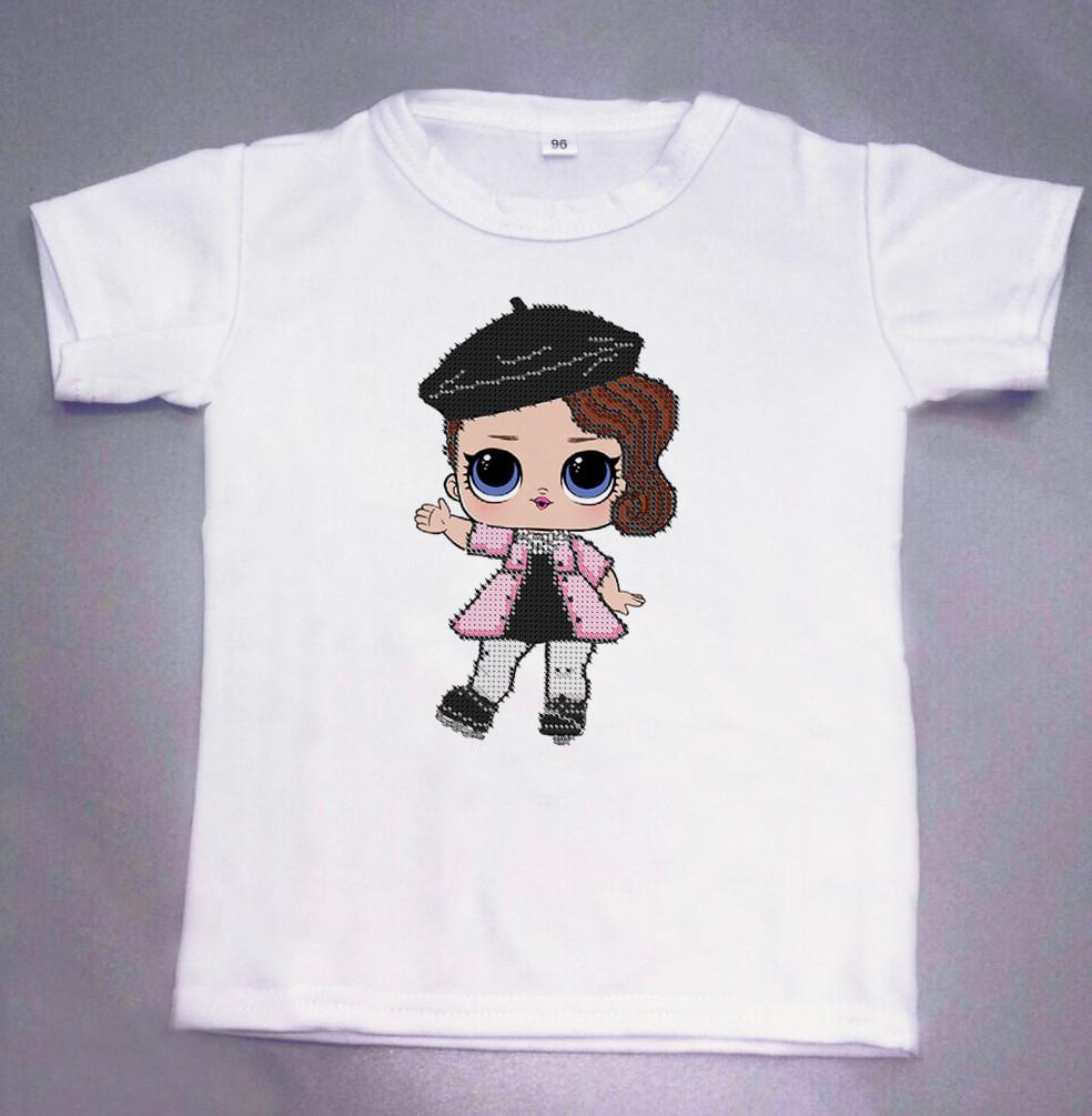 Дитяча футболка для вишивки бісером