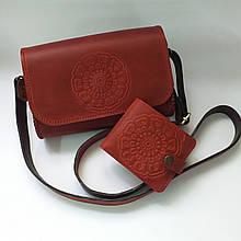 Сумочка жіноча у комплекті з гаманцем