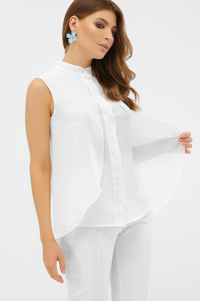 Летняя белая блузка без рукавов Санта-Круз