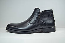 Мужские демисезонные ботинки черные кожаные Sensor Marriotti 325