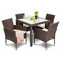 Садовая мебель VERONA 4+1 коричневая