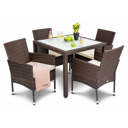 Садовая мебель VERONA 4+1 коричневая, фото 2