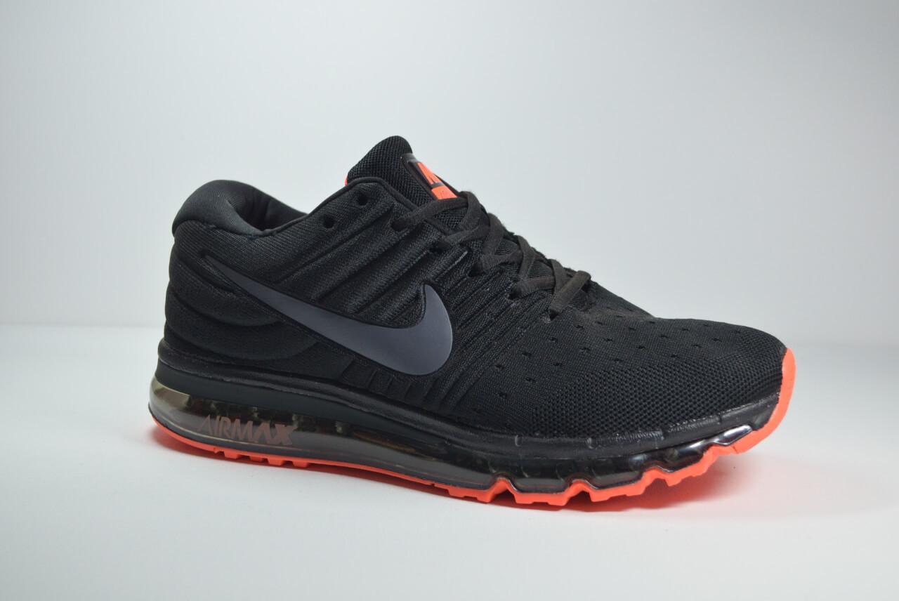 Мужские кроссовки черные с оранжевым в стиле Air 2017 (2017 - 6)