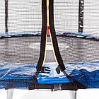 Батут Atleto 490 см. двойные ножки с защитной сеткой и лестничкой, фото 3