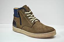 Мужские зимние нубуковые ботинки коричневые Affinity 2875 - 26
