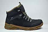 Мужские зимние нубуковые ботинки черные Affinity 2975 - 21, фото 3