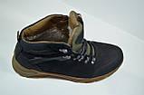 Мужские зимние нубуковые ботинки черные Affinity 2975 - 21, фото 4