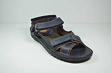 Мужские кожаные сандалии синие Detta 67-4