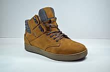 Мужские зимние нубуковые ботинки рыжие Affinity 2976 - 23