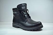 Мужские кожаные ботинки черные зимние Botus 21
