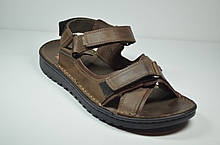 Мужские кожаные сандалии коричневые Detta 67-1