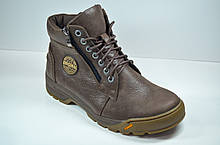 Мужские кожаные ботинки коричневые зимние Botus 22