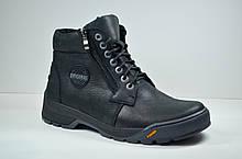 Мужские кожаные ботинки черные зимние Botus 22