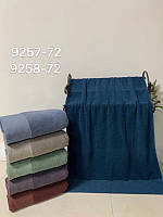 Банные однотонные полотенца махра  упаковка 6 шт.