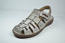 Мужские кожаные сандалии серые Mario 199-73