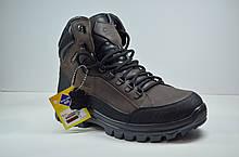 Мужские кожаные ботинки коричневые зимние Clubshoes 50