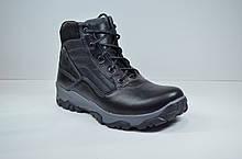 Підліткові шкіряні черевики чорні зимові Maxus Скипер