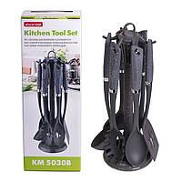 Набор кухонных принадлежностей 7 шт Kamille нейлоновые (Мрамор) KM-5030B