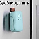Запаювач пакетів Adna PS-02 ручний запайщик пакетів побутовий. М'ятно-бірюзовий, фото 5