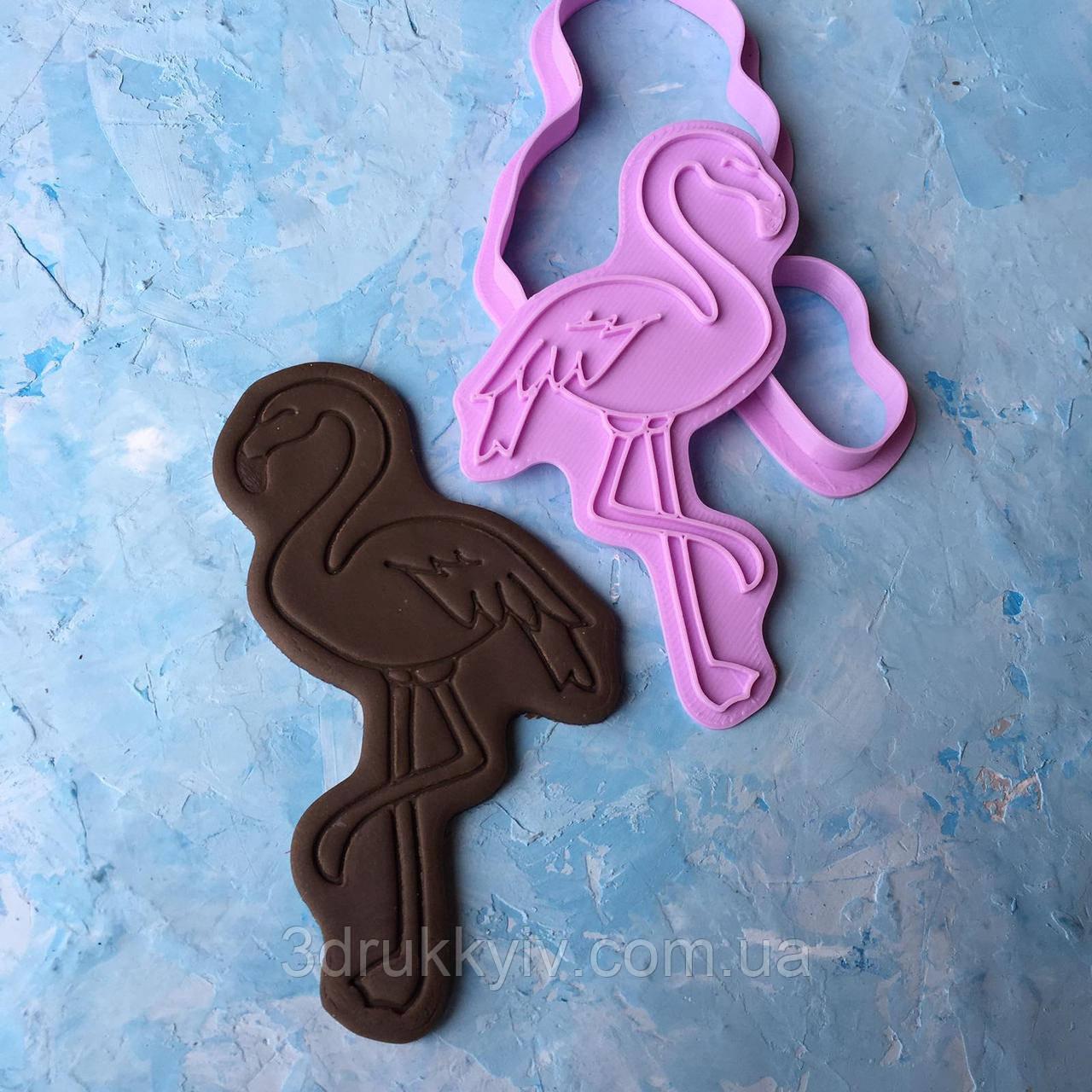 """Вирубка для пряників """"Фламінго #2"""" / Вырубка - формочка для пряников """"Фламинго #2"""""""
