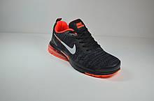 Кросівки чорні з помаранчевим Nike Air Presto (1988-2)