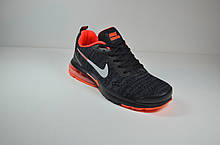 Женские и подростковые кроссовки черные с оранжевым в стиле Air Presto (1988-2)