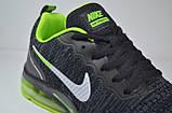 Женские и подростковые кроссовки черные с зеленым в стиле Air Presto (1988-3), фото 2